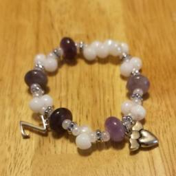 Initial and charm bracelet