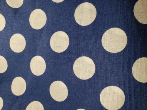 Navy Blue w/White Polka Dots